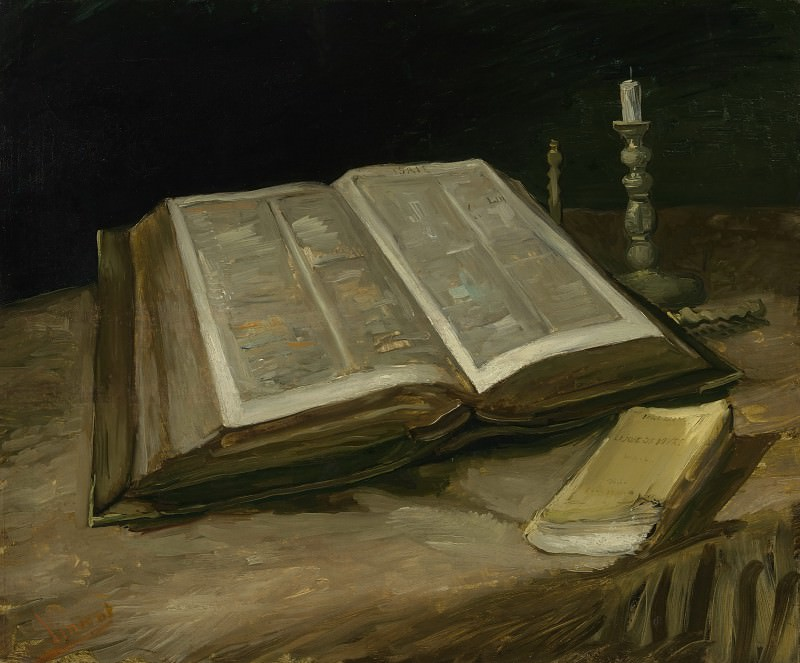 Still Life with Bible. Vincent van Gogh