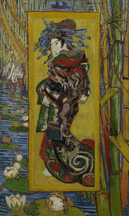 Japonaiserie - Oiran (after Kesai Eisen). Vincent van Gogh
