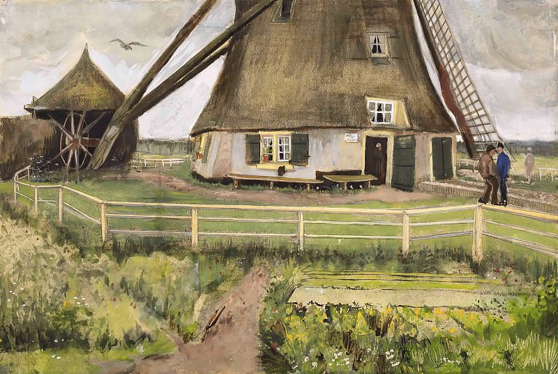 The Windmill Near Hague. Vincent van Gogh