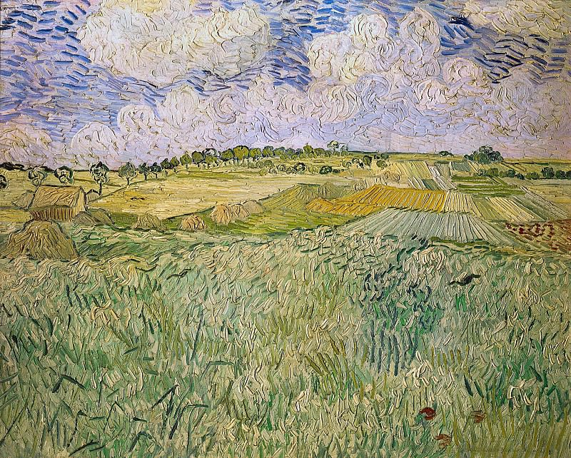 Plain of Auvers. Vincent van Gogh