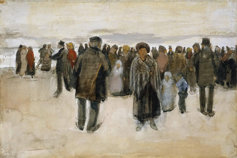 People Strolling on the Beach. Vincent van Gogh