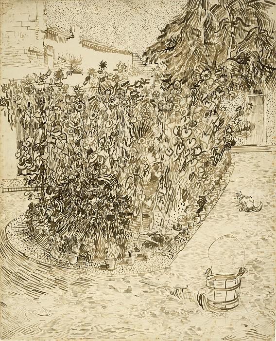 Garden of a Bathhouse. Vincent van Gogh