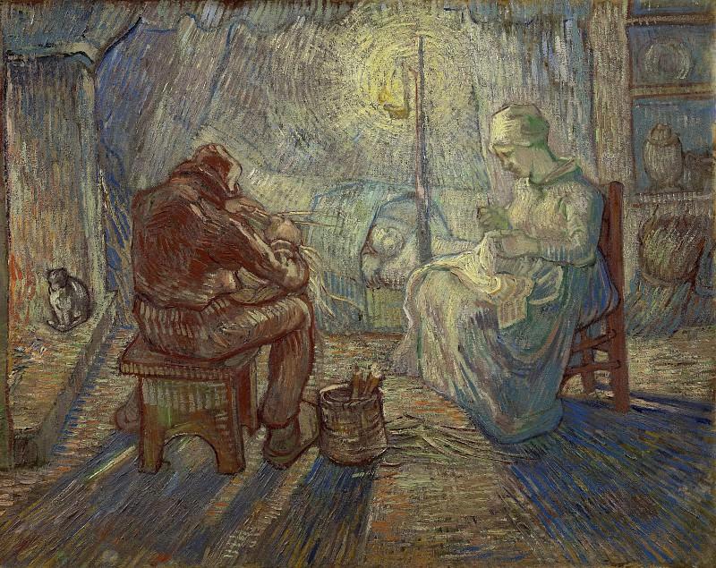 Evening (after Millet). Vincent van Gogh