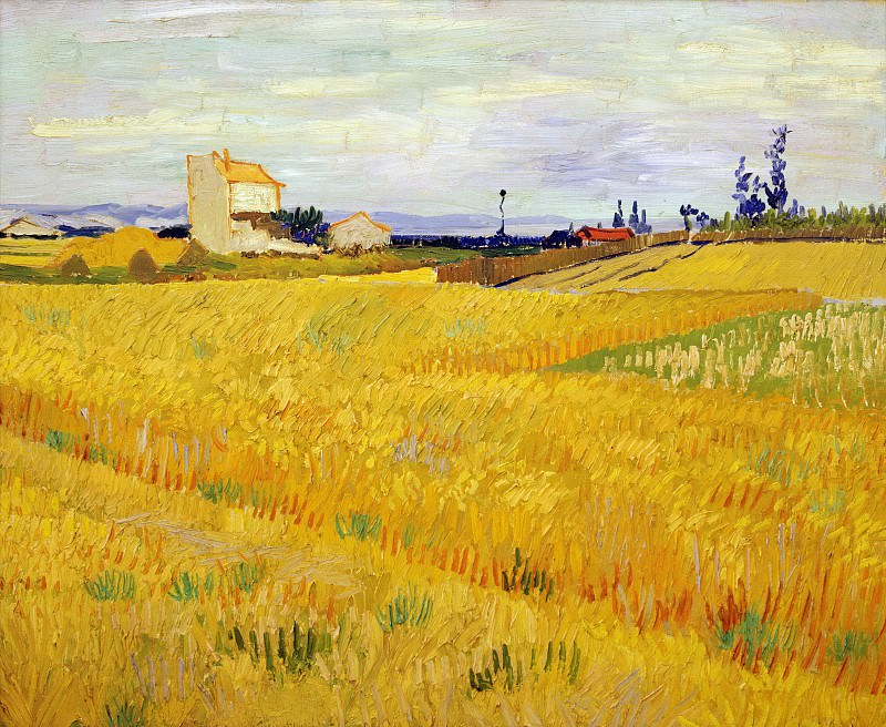 Wheat Field with Sheaves. Vincent van Gogh