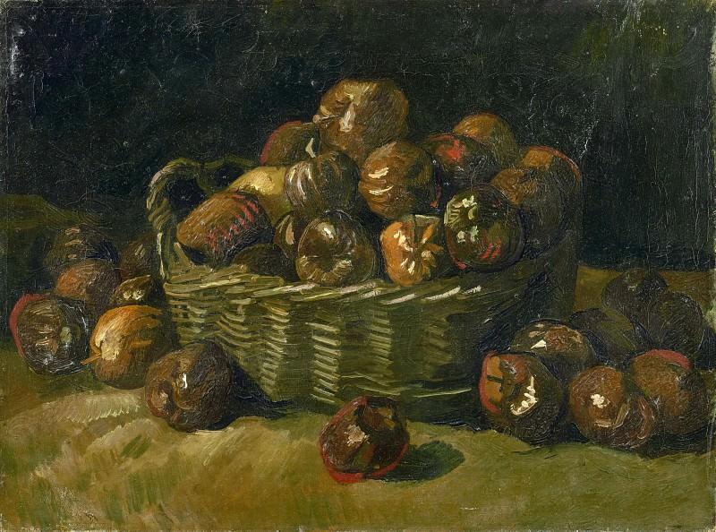 Корзина яблок. Винсент Ван Гог