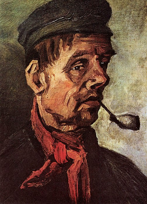 Head of a Peasant with a Pipe. Vincent van Gogh