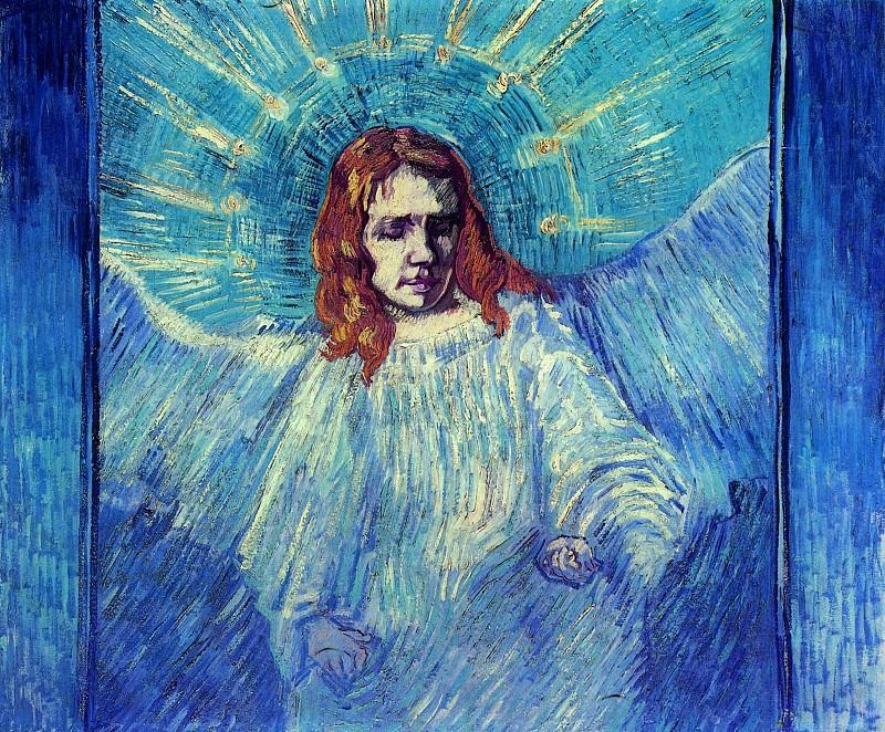 Half Figure of an Angel (after Rembrandt). Vincent van Gogh