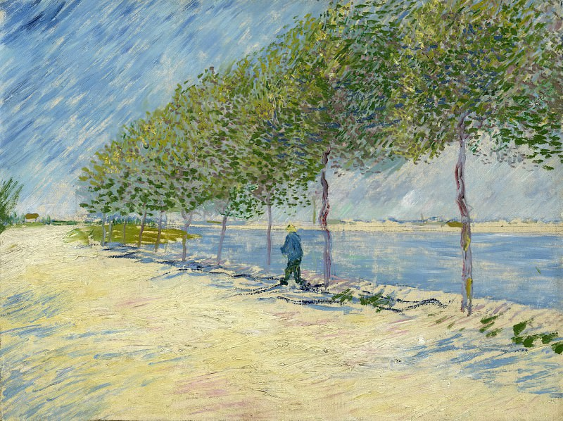 Walk Along the Banks of the Seine Near Asnieres. Vincent van Gogh