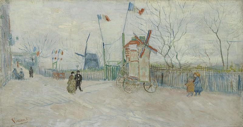 Street Scene in Montmartre - Le Moulin a Poivre. Vincent van Gogh