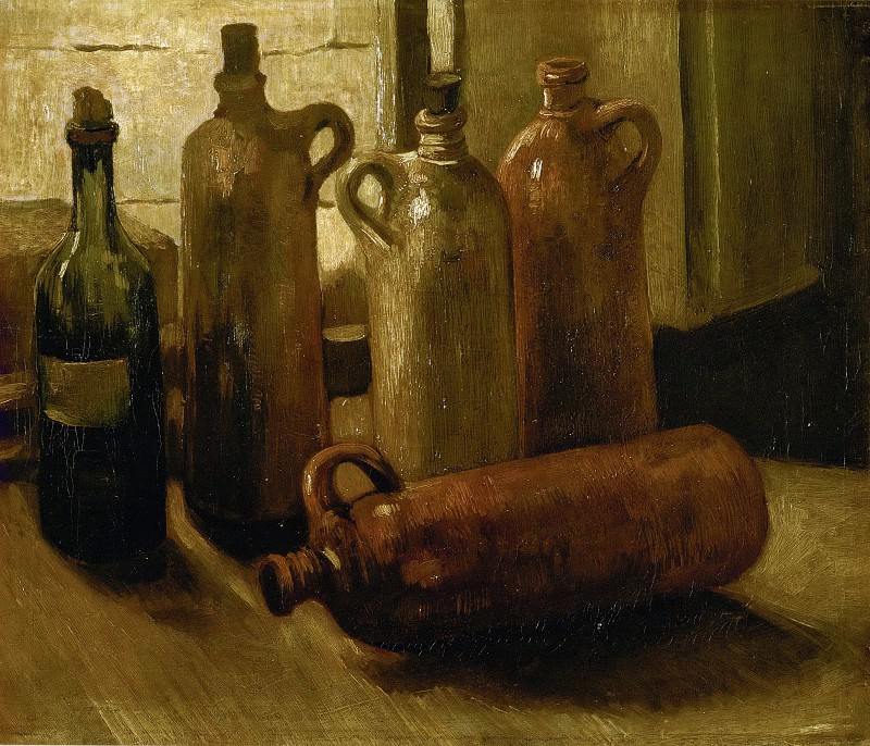 Still-life with Bottles. Vincent van Gogh