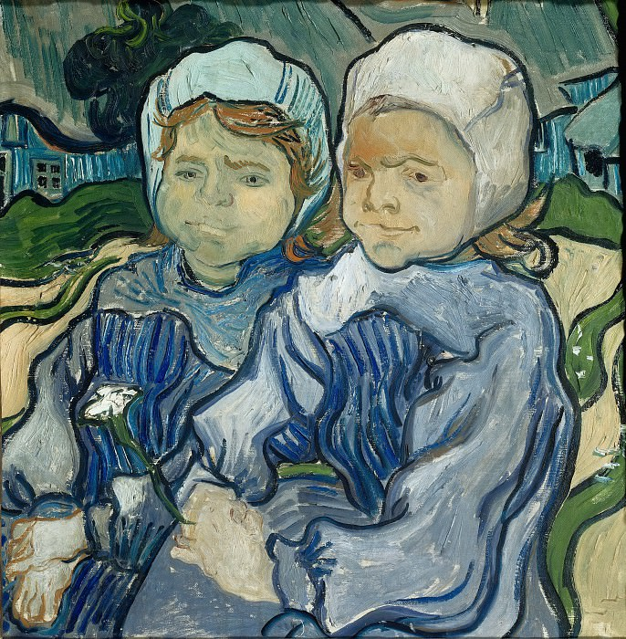 Два ребенка. Винсент Ван Гог