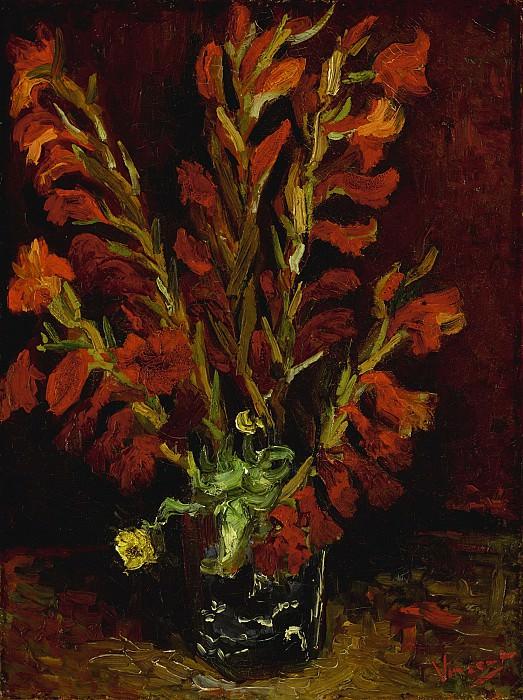Vase with Red Gladioli. Vincent van Gogh