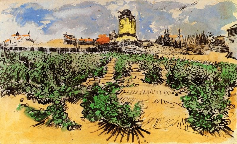The Mill of Alphonse Daudet at Fontevielle. Vincent van Gogh