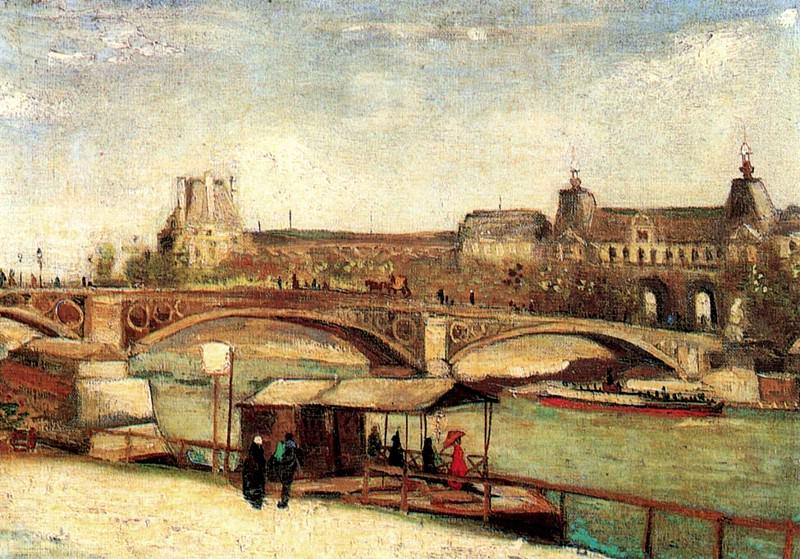 The Pont du Carrousel and the Louvre. Vincent van Gogh