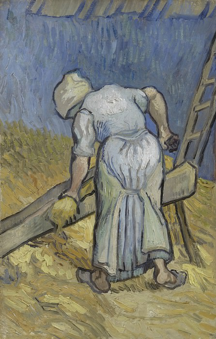 Peasant Woman Cutting Straw (after Millet). Vincent van Gogh