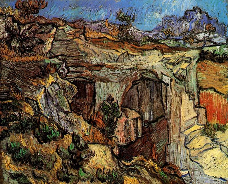 Entrance to a Quarry near Saint-Remy. Vincent van Gogh