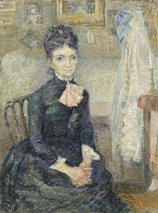 Woman Sitting by a Cradle. Vincent van Gogh