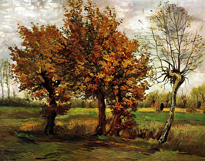 Autumn Landscape with Four Trees. Vincent van Gogh