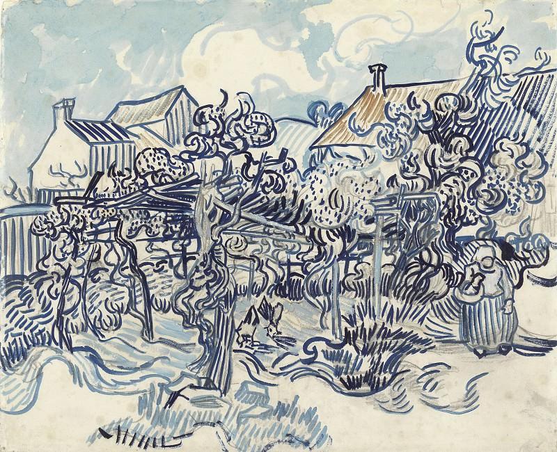 Old Vineyard with Peasant Woman. Vincent van Gogh