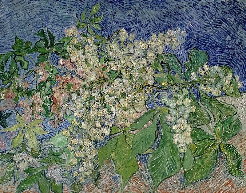 Blossoming Chestnut Branches. Vincent van Gogh