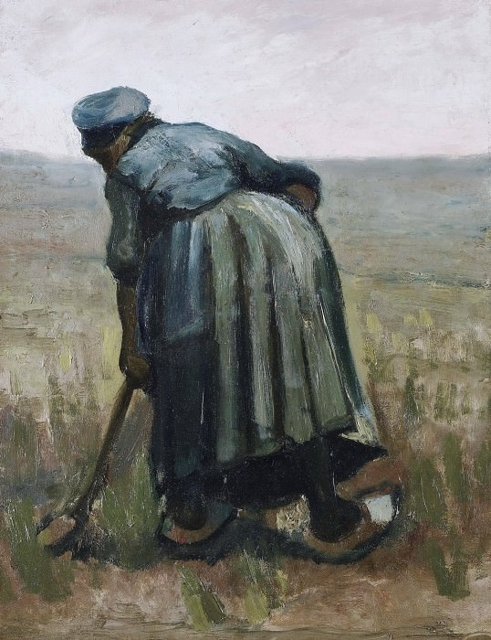 Peasant Woman Digging. Vincent van Gogh