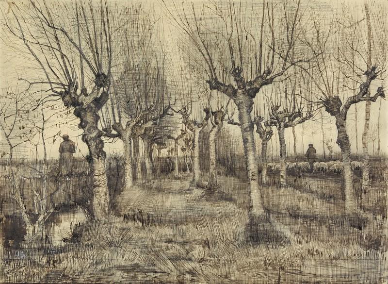 Pollard Birches. Vincent van Gogh
