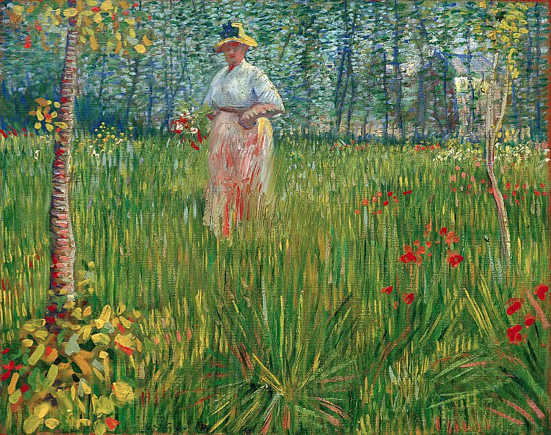 Woman in a garden. Vincent van Gogh