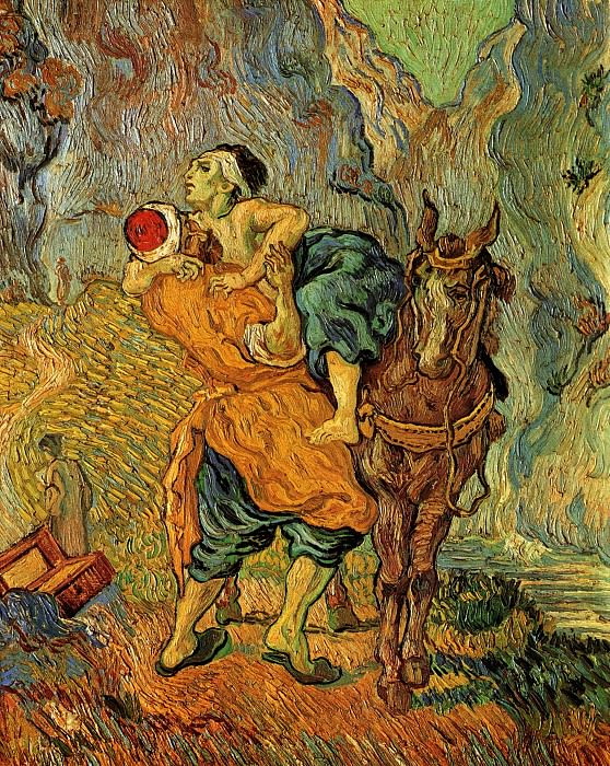 The Good Samaritan (after Delacroix). Vincent van Gogh