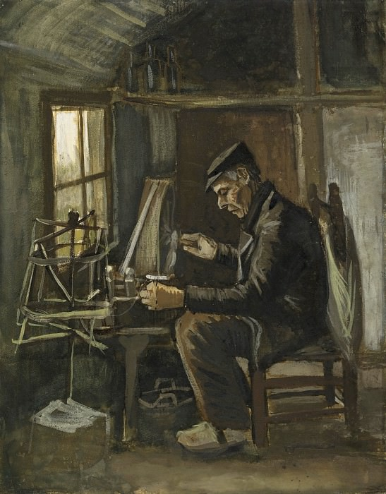 Man Winding Yarn. Vincent van Gogh