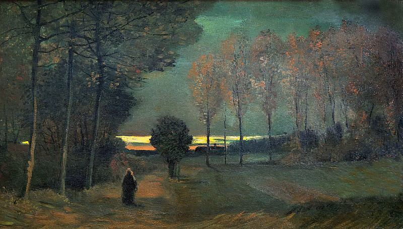 Autumn Landscape at Dusk. Vincent van Gogh