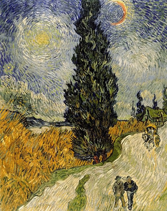Road with Cypress and Star. Vincent van Gogh