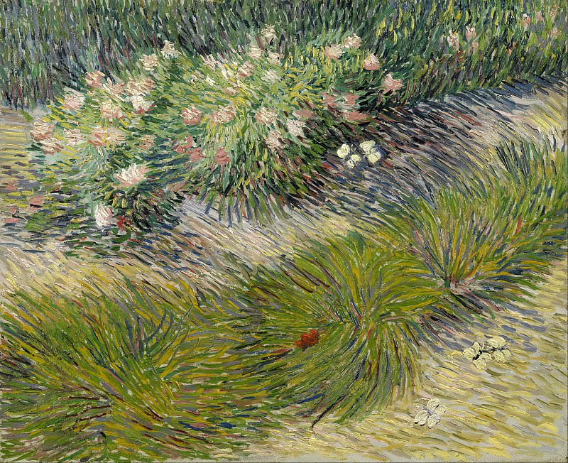 Grass and butterflies. Vincent van Gogh