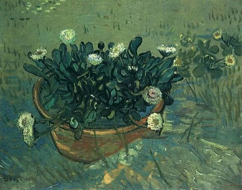 Bowl with Daisies. Vincent van Gogh