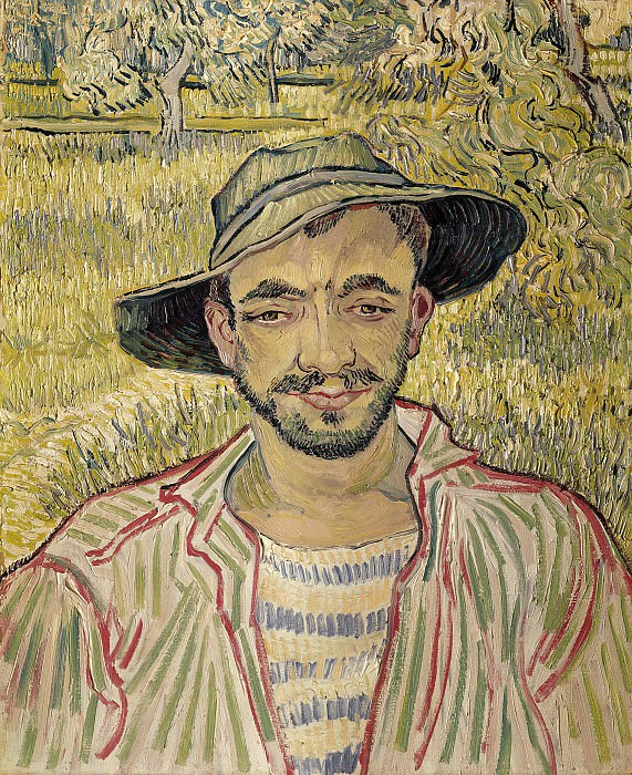 Portrait of a Young Peasant. Vincent van Gogh