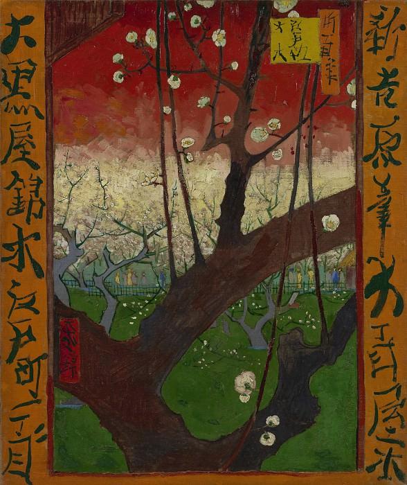 Plum tree in Bloom (after Hiroshige). Vincent van Gogh