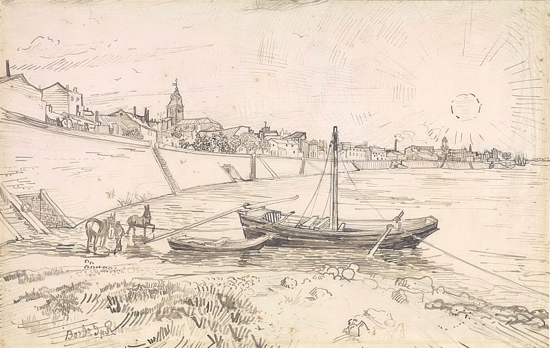 View of Arles and Rhone. Vincent van Gogh
