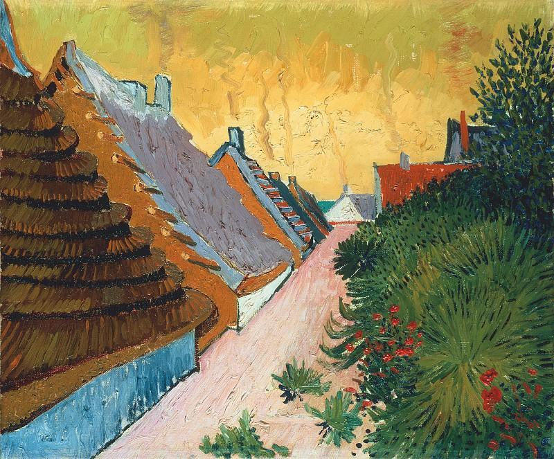 Street in Saintes-Maries. Vincent van Gogh