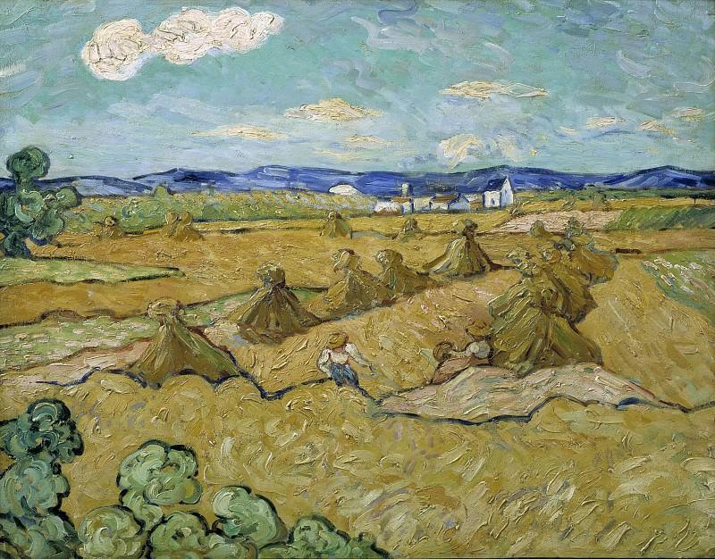 The Cornshocks. Vincent van Gogh (After)