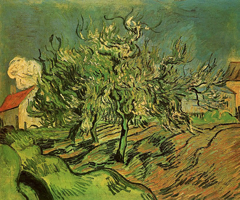 Landscape with Three Trees and a House (attr.). Vincent van Gogh