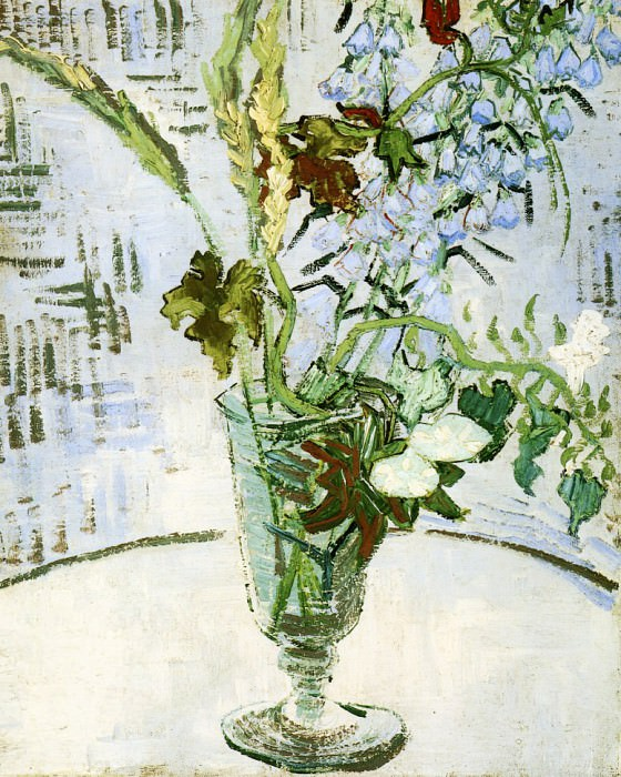 Flowers in a Vase. Vincent van Gogh