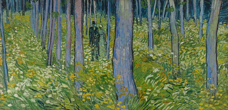 Undergrowth with Two Figures. Vincent van Gogh