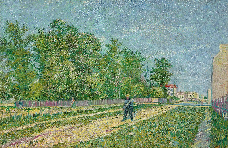 Man with Spade in a Suburb of Paris. Vincent van Gogh