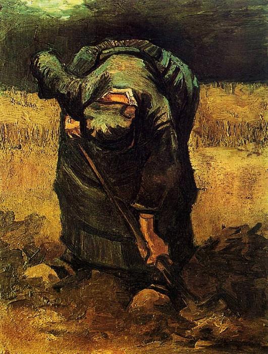 Peasant Woman Digging. Vincent van Gogh