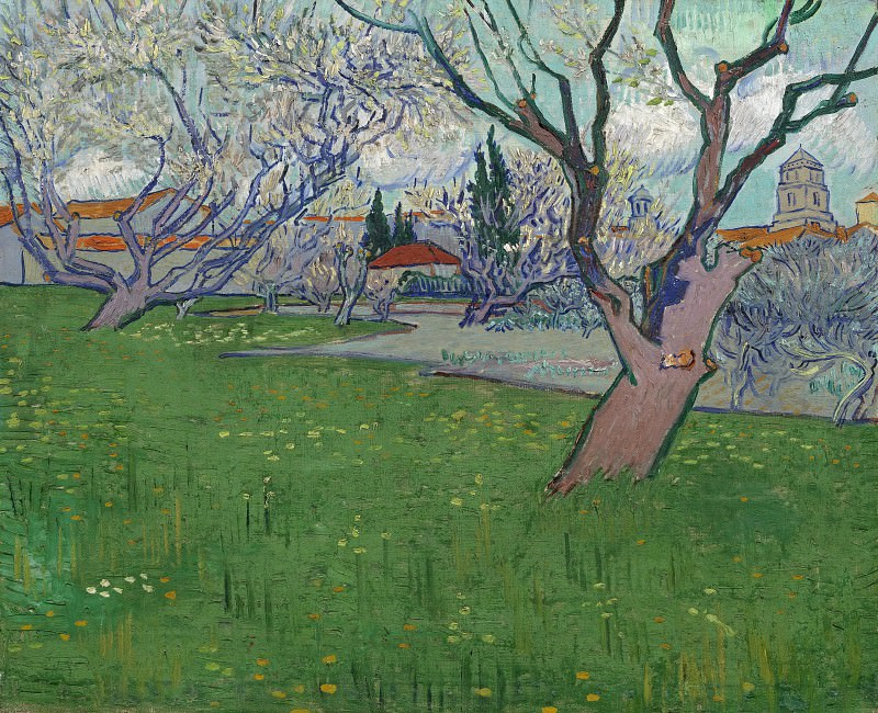 View of Arles with Trees in Blossom. Vincent van Gogh