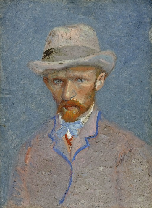 Self-Portrait with Grey Felt Hat. Vincent van Gogh