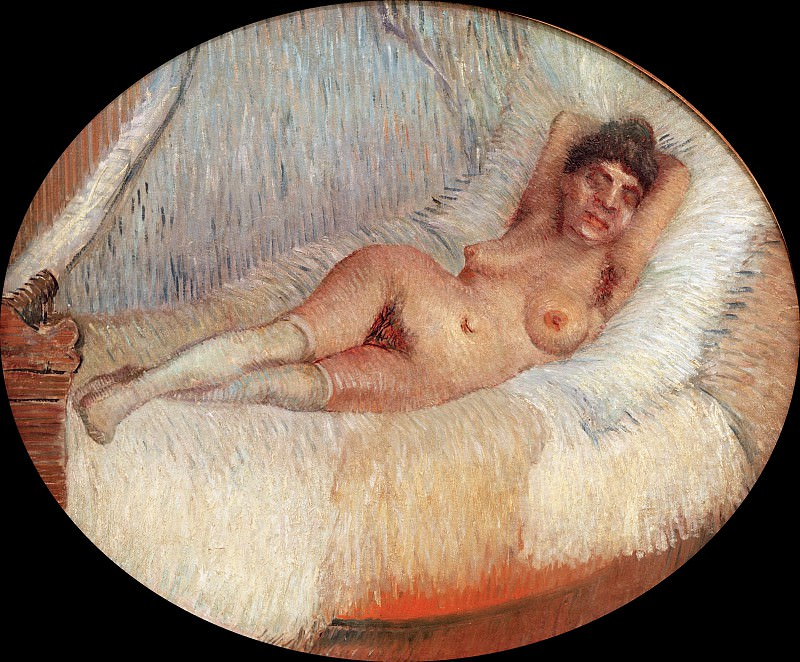 Nude Woman on a Bed. Vincent van Gogh