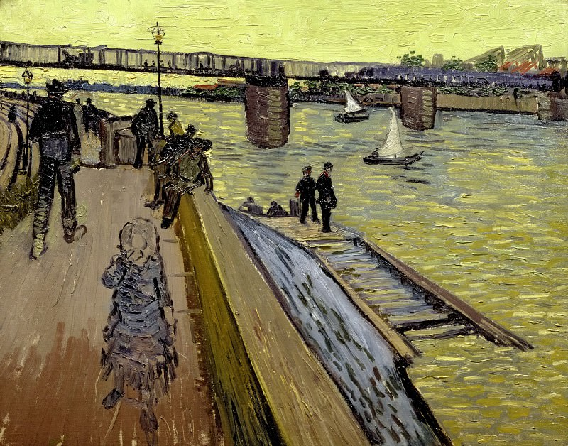 The Bridge at Trinquetaille. Vincent van Gogh