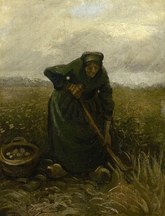 Женщина, выкапывающая картофель. Винсент Ван Гог