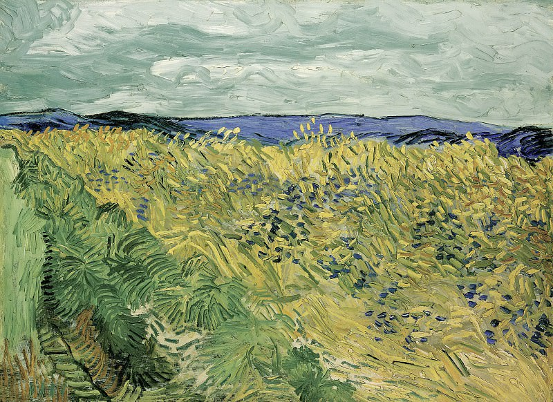 Wheat Field with Cornflowers. Vincent van Gogh