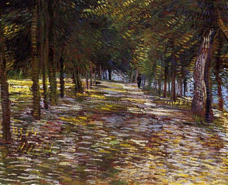 Avenue in Voyer dArgenson Park at Asnieres. Vincent van Gogh